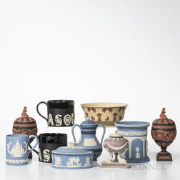 Ten Modern Wedgwood Jasper Items