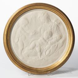 Modern Wedgwood Solid White Jasper Plaque