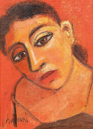 David Harouni (American, b. 1962)    Untitled (Inclined Head of a Woman)