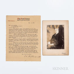 Hearst, William Randolph (1863-1951), Typed Letter Signed, New York, New York, 11 May 1910, and Photograph.