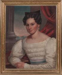 American School, Mid-19th Century    Portrait of Rebecca Edwards